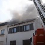 Feuerwehr Altußheim – Wohnhaus brennt in Altlußheim
