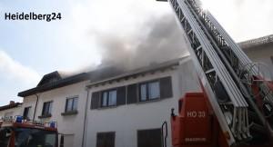 Feuerwehr Altußheim - Wohnhaus brennt in Altlußheim heidelberg 24 rene priebe tvüberregional gemeinde altlusshein feuerwehr altlussheim