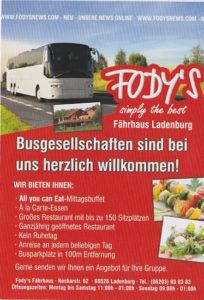 Fodys Fährhaus Busgruppen Menschengruppen willkommen