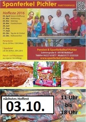 Spanferkel Hoffest Pichler Walldorf