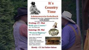 Countrytime Eschelbach Info für Samstag 28-05-2016