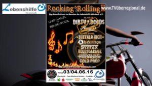 Rocking & Rolling II - Bikerfreunde Wiesloch - Event am 3. und 4.6.2016 zu Gunsten der Lebenshilfe Wiesloch e.V.