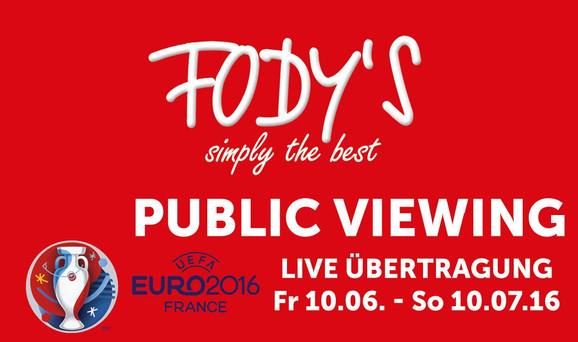PUBLIC VIEWING im Fodys Fährhaus Ladenburg mit SOUND ANLAGE - WIE LIVE IM STADION vom 10.06 bis 10.07.2016