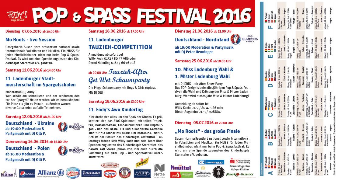Fodys Fährhaus Ladenburg Pop und Spass Festival 2016