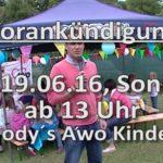 Ankündigung für Awo Kindertag am 19-06-2016 bei dem Restaurant Fodys Fährhaus Ladenburg