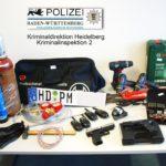 Heidelberg –  Hirschberg – Schönbrunn – Lobbach – Neckarsteinach – Mannheim — Beschuldigte wegen Herbeiführung einer Sprengstoffexplosion in mehreren Fällen u.a in Untersuchungshaft