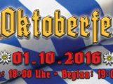 Wiesloch OKTOBERFEST – feiern wie in Bayern – O'Zapft is! heißt es am Samstag 1.10.2016 ab 19 Uhr bei Auto Wagner
