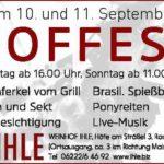 Großes Hoffest mit LIVEMUSIK – PONYREITEN – WEINPROBIERSTAND – GRILL – BESENKÜCHE bei WEINGUT IHLE Rauenberg 10.09 und 11.09.2016