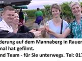2. Rauenberger Weinwanderung auf dem Mannaberg 2016 – Filmbericht von TVüberregional