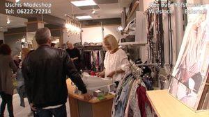 Baiertal - Uschis Modeshop - Modeschau - bei Kerwe in Wiesloch Baiertal - TV Filmbeitrag