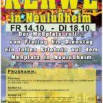 Neulussheim – Kerweeröffnung mit Fassbieranstich – Festbetrieb vom 14.10. bis 18.10. – grosses Festprogramm für kleine und grosse Besucher