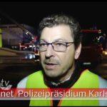 Reifenlager im Vollbrand – Großeinsatz der Karlsruher Feuerwehren