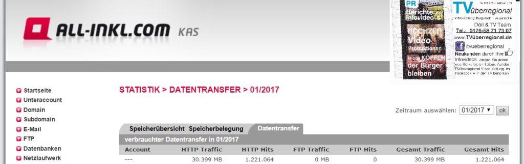 TVüberregional Statistik Januar 2017 Raum Kurpfalz - Kraichgau Zuschauer Onlinefernsehen