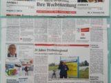 20 Jahre TVüberregional – St. Leon – Rot – Zum Jubiläum in der BAZ Zeitung