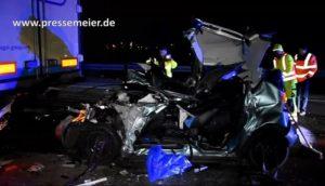 FILMBEITRAG -- BAB 5 - St. Leon-Rot - Rhein-Neckar-Kreis - Verkehrsunfall mit schwerverletzter Person - A 5 für ca. 2,5 Stunden voll gesperrt