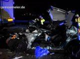 FILMBEITRAG — BAB 5 – St. Leon-Rot – Rhein-Neckar-Kreis – Verkehrsunfall mit schwerverletzter Person – A 5 für ca. 2,5 Stunden voll gesperrt