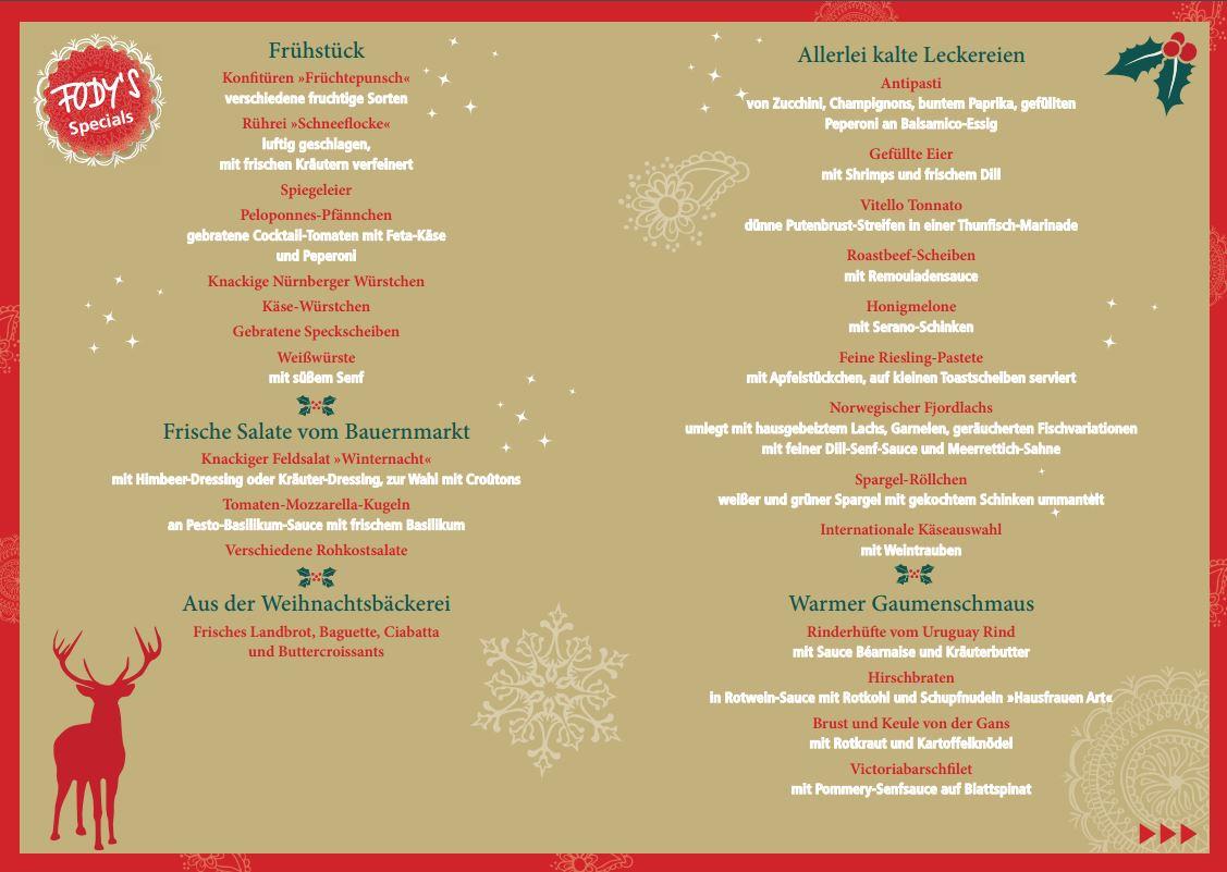Weihnachten im Restaurant Fodys Fährhaus Ladenburg