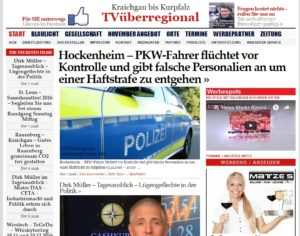 Hockenheim - PKW-Fahrer flüchtet vor Kontrolle und gibt falsche Personalien an um einer Haftstrafe zu entgehen