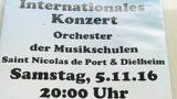 Dielheim – Internationales Konzert – Orchester der Musikschulern – Kulturhalle 05.11.2016 – 20 Uhr