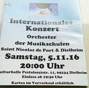 Dielheim - Internationales Konzert - Orchester der Musikschulern - Kulturhalle 05.11.2016 - 20 Uhr