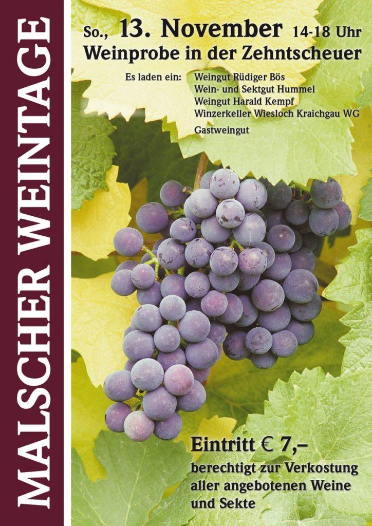 Malsch - Kraichgau - Weinprobe in der Zehntscheuer - 13.11.2016 14 bis 18 Uhr