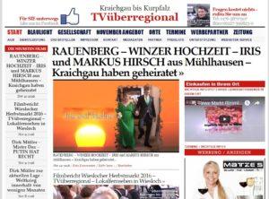 RAUENBERG – WINZER HOCHZEIT – IRIS und MARKUS HIRSCH aus Mühlhausen – Kraichgau haben geheiratet