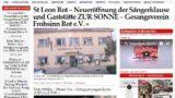 St Leon Rot – Neueröffnung der Sängerklause und Gaststätte ZUR SONNE – Gesangsverein Frohsinn Rot e.V.