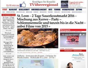 St. Leon – 2 Tage Sauerkrautmarkt 2016 – Mischung aus Kerwe – Party – Schlemmermeile und tanzen bis in die Nacht – anbei Filme von 2015