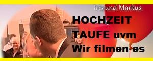 hochzeit filmen - taufe filmen - videobearbeitung - schnittplatz mieten - kameramann mieten