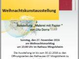 Mingolsheim – Weihnachtskunstausstellung am Sonntag den 27. November 2016
