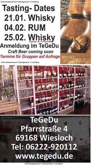 Wiesloch TeGeDu Whisky Tasting Tee Genuss Duft Erik Schleich - Pralinen - Essig Paradies - Geschenke - Schlaraffenland - Wiesloch Lokal Fernsehen TVüberregional
