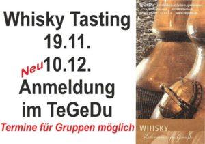 Wiesloch - TeGeDu - Whiskytasting 19.11 und 10.12.2016 Pfarrstrasse 4 - Eric Schleich - TeGeDu
