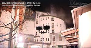 DIELHEIM - GETREIDEMÜHLE IN BRAND - TV Bericht