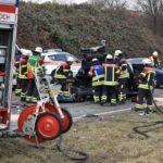 Wiesloch – Auffahrunfall mit zwei Lkw, zwei Leichtverletzte, Sachschaden über 50.000 Euro