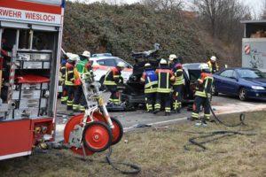 Wiesloch - Auffahrunfall mit zwei Lkw, zwei Leichtverletzte, Sachschaden über 50.000 Euro
