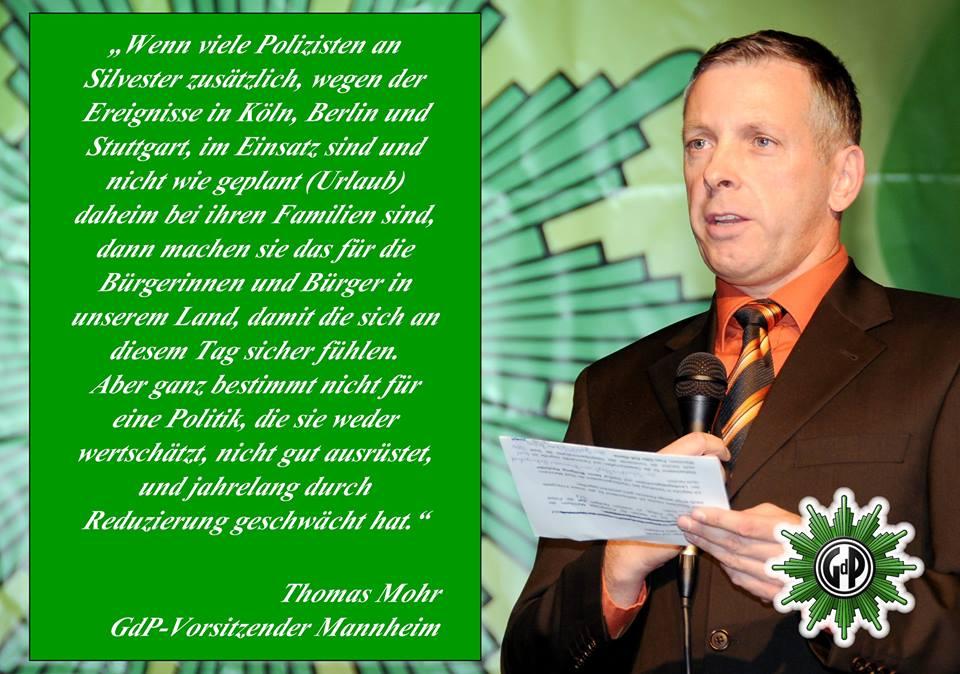 Gewerkschaft der Polizei - Thomas Mohr