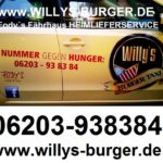 Willys Burger Taxi – Fodys Fährhaus HEIMLIEFERSERVICE – ONLINE BESTELLEN – Willys Burger – Ladenburg – Mannheim – Bergstrasse