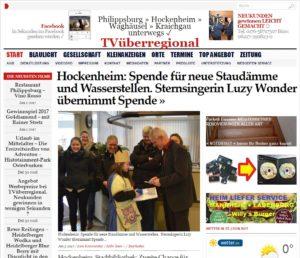 Hockenheim: Spende für neue Staudämme und Wasserstellen.  Sternsingerin Luzy Wonder übernimmt Spende