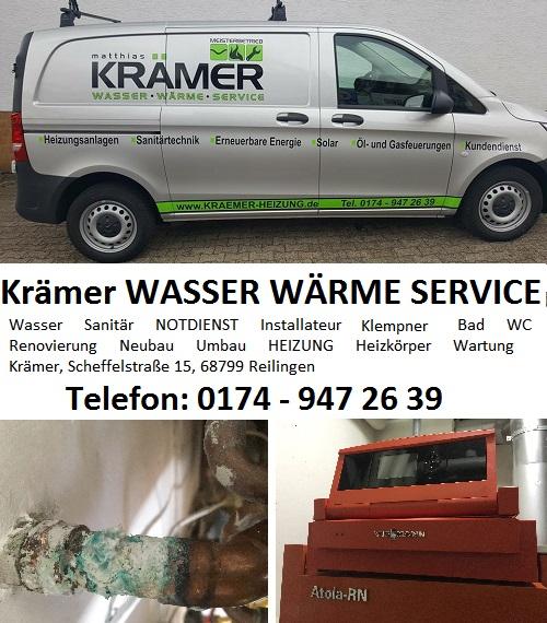 REILINGEN - Krämer WASSER WÄRME SERVICE - mit Krämer bleibt´s wärmer #reilingen_notdienst #krämer_heizung #krämer_installateur #krämer_klemptner #reilingen_wasserrohr_service #reilingen_warmwasser