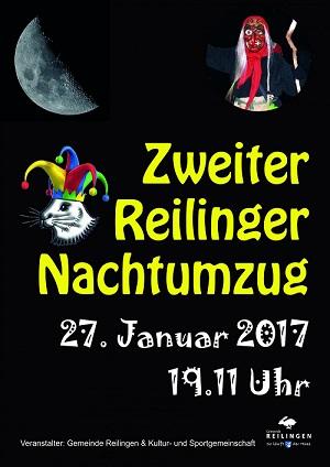 REILINGEN: 2. Nachtumzug der Narren 2017