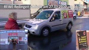 REWE Reilingen wegen Reilinger Nachtumzug am Freitag 27.01.2017 ab 19 Uhr geschlossen