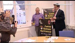 TV Beitrag Reilingen Bürgermeister Weisbrod: Ansage zum 2. Nachtumzug 2017