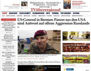 US-General in Bremen: Panzer aus den USA sind Antwort auf offene Aggression Russlands - TV Beitrag im Hafen