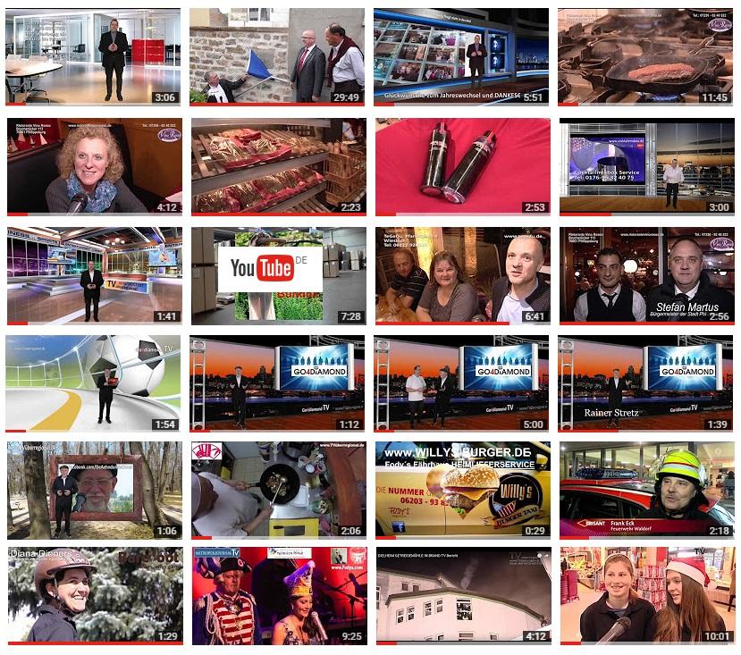 Wie Sie Neukunden akquirieren oder das Stadtfest anschauen: hier im Filmarchiv von TVüberregional - YOUTUBE KANAL