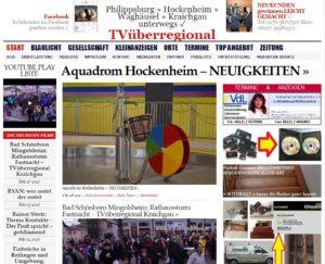 Aquadrom Hockenheim - NEUIGKEITEN TVüberregional