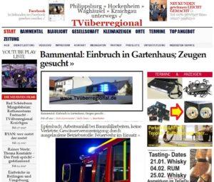 Bammental: Einbruch in Gartenhaus; Zeugen gesucht