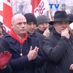 Demonstration gegen Schließung von Goodyear Reifenwerk Philippsburg