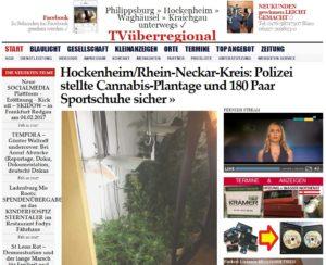 Hockenheim/Rhein-Neckar-Kreis: Polizei stellte Cannabis-Plantage und 180 Paar Sportschuhe sicher