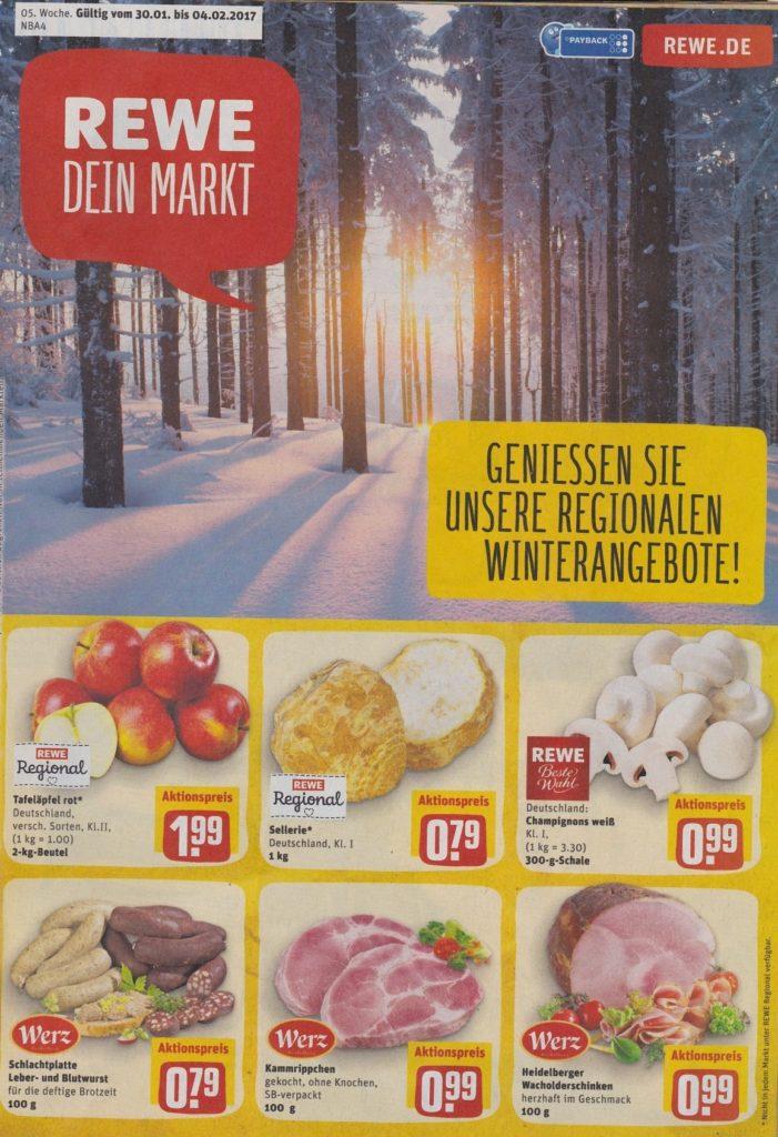 Rewe Angebote In Reilingen Ab 30012017 Bis 04022017