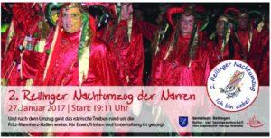 Liebe Narrenfreunde, die Gemeinde Reilingen in Zusammenarbeit mit der Kultur- und Sportgemeinschaft Reilingen startet auf vielfachen Wunsch von Reilinger Bürgern sowie vielen Besucher unseres Gemeindejubiläums 2011 einen 2. Nachtumzug zu der Narren.